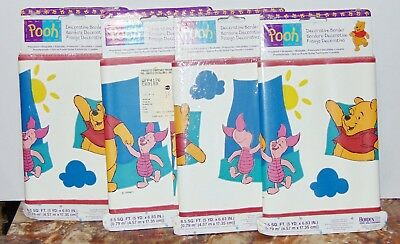 Lot of 4 Winnie the Pooh Decorative Wallpaper Border Nursery prepasted NEW
