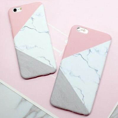 Glossy Granite Marble Contrast Case Color Phone Cover For iPhone X 8 5 6 7 Plus