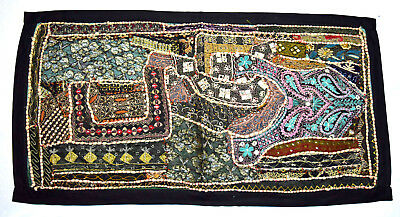 Vintage Indian Cultural Handmade Tapestry Wall Hanging Elegant Home Décor.i17-62