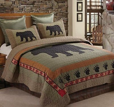 Cumberland Lodge Twin Queen King Or Cal King Quilt Red Black Plaid