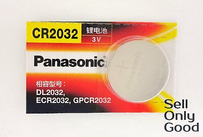 Panasonic 3V CR2032 CR 2032 ECR2032 DL2032 Button Coin Cell Battery