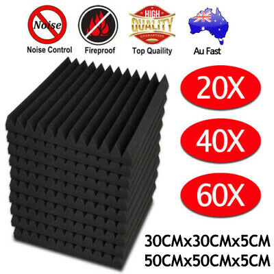 20 40 60PCS Studio Acoustic Foam Sound Absorbtion Proofing Panel Wedge 30/50CM