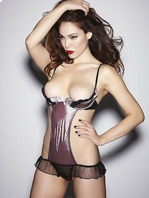 Ann Summers Andrea Black & Pink Sexy Body Size Small (8-10)