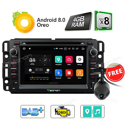 """Octa Core Android 8.0 7"""" Car Radio DVD GPS Navi Stereo for GMC Chevrolet Buick W"""