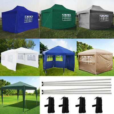 Outdoor 2x2 2.5x2.5 3x3M Garden Gazebo Marquee Canopy Pop Up Party Tent w/4 Side