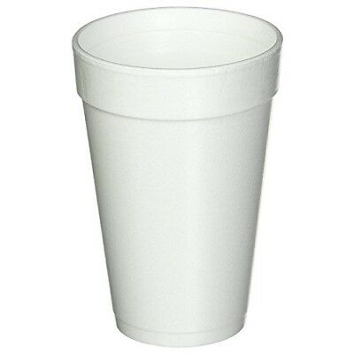Dart 16 Oz. White Disposable Drink Foam Cups Hot and Cold Coffee Cup (Pack of 40