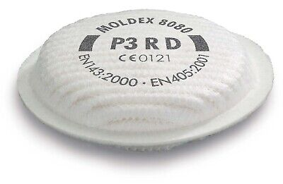 4 X Pairs Moldex 8080 Particulate Filter Replacement P3RD Respiratory Protection