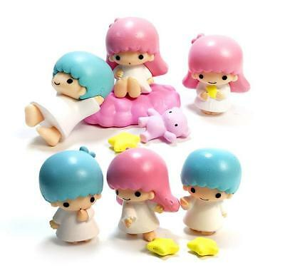 Little Twin Stars Figures Play Toy Doll Cake Toppers Set Collective Figurines