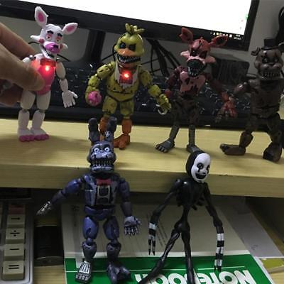 6PCS Five Nights At Freddy's FNAF Bonnie Bear PVC Action Figures Doll Toys Child
