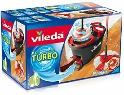 Vileda Easy Wring And Clean Turbo Smart Mop & Bucket Set With Power Spin Wring