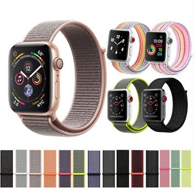 Nylon Woven Sport Loop Watch Band Strap Belt Fr Apple Watch Series 2 3 4 40/44mm