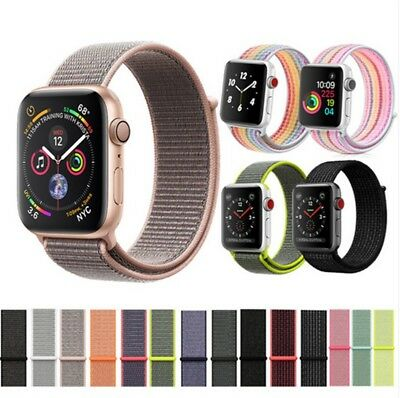 US Nylon Woven Sport Loop Bracelet Watch Band Strap For Apple Watch Series 1 2 3