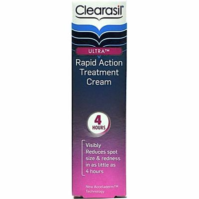NEW Clearasil Ultra Rapid Action Treatment Cream 25ml USE BY DATE 07/2014 BOXED