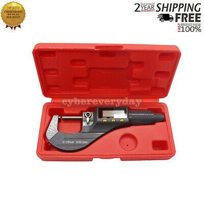 "0-1"" 0.00005"" Digital Electronic Outside Micrometer Carbide Tip 0.001 - 25mm"