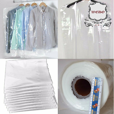 Clear Polythene Garment Covers Clothes Suit Dress Plastic Bags Poly roll
