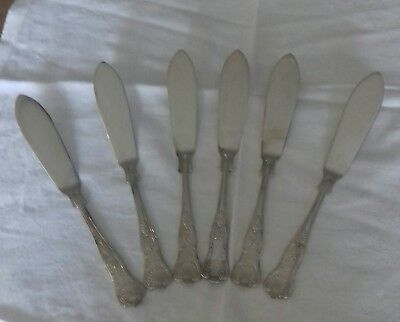 6 x Silver Plated Kings Pattern Fish Knives EPNS A1 Sheffield.
