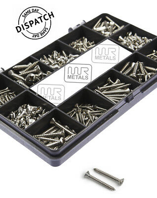 ASSORTED No6 8 10 A2 or A4 MARINE STAINLESS COUNTERSUNK SELF TAPPING SCREWS KIT
