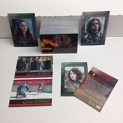 Game of Thrones - Season 4 - Complete Card Set (100) - Rittenhouse 2015 - NM