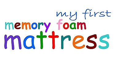 MY FIRST MEMORY FOAM MATTRESS TOPPER with coolmax cover 140 x 70 x 5 cm cot bed