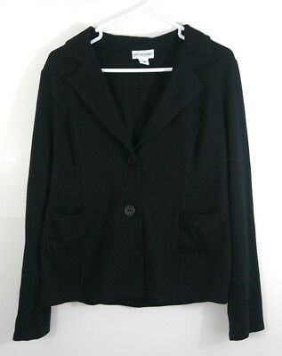 Motherhood Maternity L Large Black Button Jacket Blazer