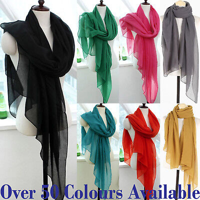 Ladies Womens Plain Viscose/Rayon Large Maxi Scarf Hijab Shawl Pashmina Scarf