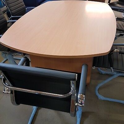 2.4m x 1.2m NEW boardroom conference  table  beech and 6 new eames style  chairs