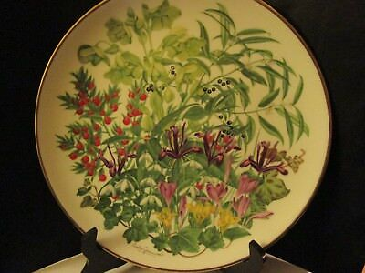 """Franklin Porcelain Flowers Of The Year Plate Collection Wedgwood February 10.7"""""""