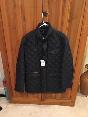 Brooks Brothers Lightweight Diamond Quilted Coat Medium NWT