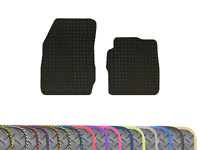 Tailored Fit 3mm Heavy Duty 2pc Black Rubber Floor Mats for Ford Transit Courier