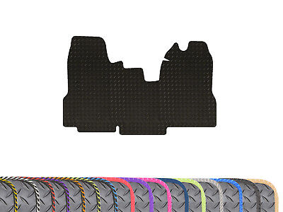 Tailored 3mm Heavy Duty 1pc Black Rubber Floor Mat for Ford Transit MK7 (06-14)