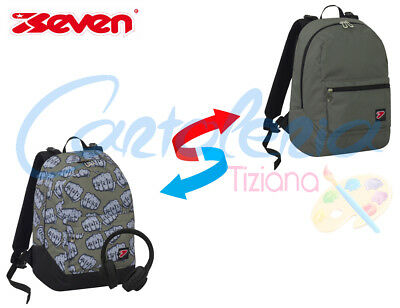 Zaino scuola Seven The Double project reversibile Knock + cuffie in omaggio 2019