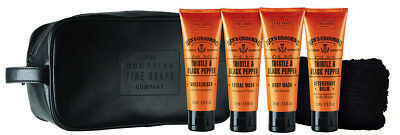 Scottish Fine Soaps Men's Grooming Thistle&Black Pepper Travel Bag 4x75ml