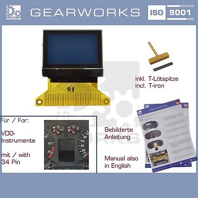 Gearworks Display Lcd F Vw Polo/9N Golf/4 Bora '99-'04 Kombiinstrument/tacho 34P