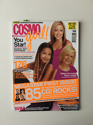 COSMO girl magazine, First issue, no 1, with FREE EMINEM stickers 2001