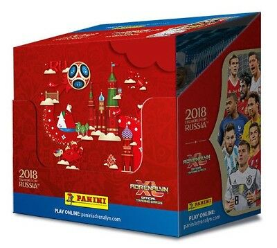 ADRENALYN XL 2018 FIFA World Cup Official Trading Card, Sealed Box of 50 Packets