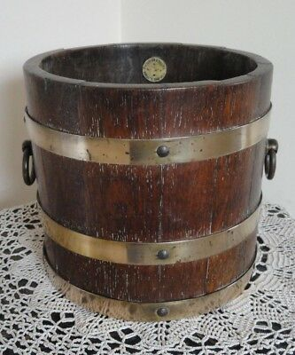 R.A.Lister & co Ltd. Wooden Barrel Style Planter