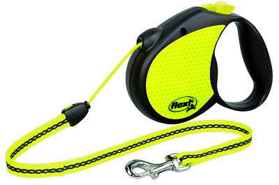 Flexi Retractable Dog Leads Cord Neon Vario Extending Lead
