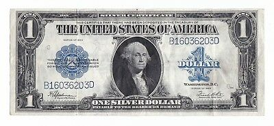 """1923 $1 One Dollar Silver Certificate Large """"Horse Blanket"""" Note"""