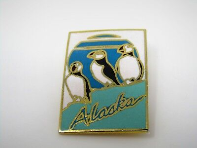 Vintage Collectible Pin: ALASKA Puffin Bird Design