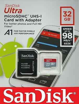 SANDISK ULTRA 32GB MICRO SD Memory Card High-Speed-SD FOR DASH CAM IN CAR CAMERA