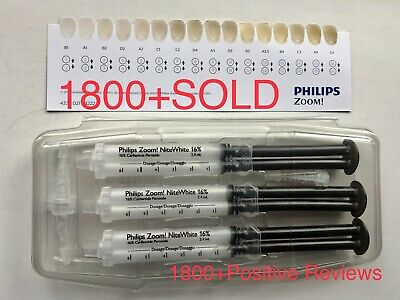 Philips Zoom 16% Nitewhite, 3x Syringes This Original Pack, UK  ✅ Expiry 07/2021