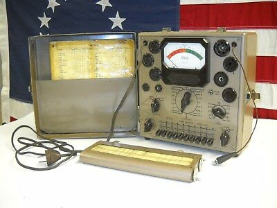 Vintage Triplett Triplet Electron Vacuum Tube Tester Model 2413 with Charts