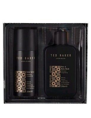 Ted Baker Duo Gift Set Hair / Body Wash and Body Spray - Men's Gift Set
