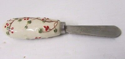 Vintage Christmas Butter Knife ~ The Swiss Colony Stainless Steel China