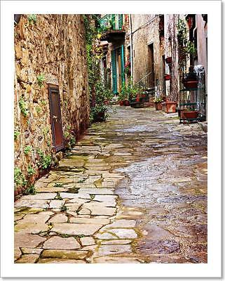 Old Alley In Tuscany Art Print Home Decor Wall Art Poster - D