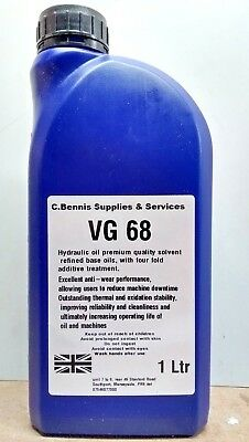 ISO VG 68 HYDRAULIC OIL PREMIUM BRITISH PRODUCT CHOICE OF SIZES din 51524