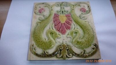 Rare Art Nouveau Tile By William Godwin & Son Tile  Works