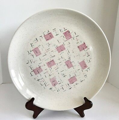 "Vintage Vernonware Tickled Pink 13"" Chop/Serving Plate"