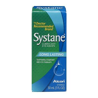 Systane Long Lasting Lubricant Eye Drops, 30 mL, 1 Fl Oz, Exp 06/19