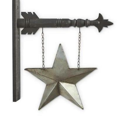 Two-Sided Silver Tin Pocket Star Arrow Replacement Sign